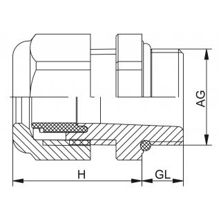 Kovová vývodka HSK-M / HSK-M-PVDF Metrický závit predĺžený