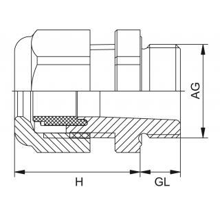 Kovová vývodka HSK-M / HSK-M-PVDF PG závit predĺžený