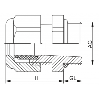 Kovové vývodky HSK-M-Ex / HSK-M-PVDF-Ex PG predĺžený závit