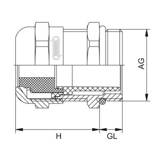 Kovové vývodky pre ploché káble HSK-M-FLAKA-Ex