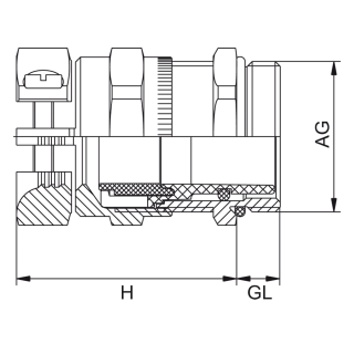 Kovové HSK-MZ-EMV-Ex / HSK-MZ-PVDF-Ex vývodky s prídavným uchytením proti namáhaniu
