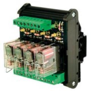 Elektromechanické modulové relé R, 4 kanály 24 Vdc / SPDT 12 A