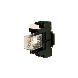 Elektromechanický reléový modul CM, 1 kanál 24 Vdc / 4PDT 3 A, s LED kontrolkou Typu 42BV 24/60 VDC
