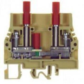 CABUR radová svorka s rozpájateľným posuvným kontaktom SB200 GR / SCB.6/GR a testovacími svorkami